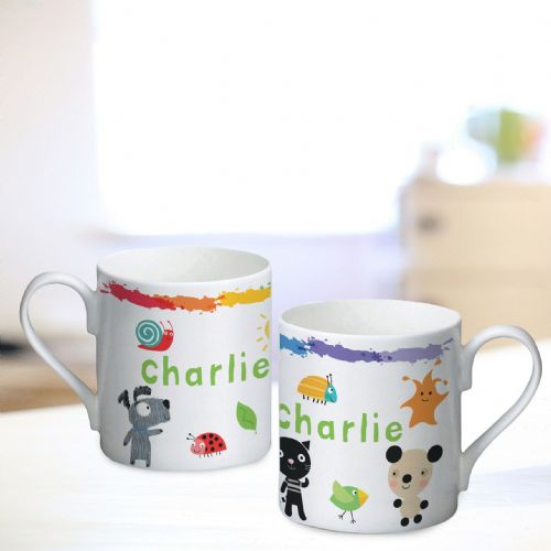Personalised Arty Mouse Scatter Character Mug